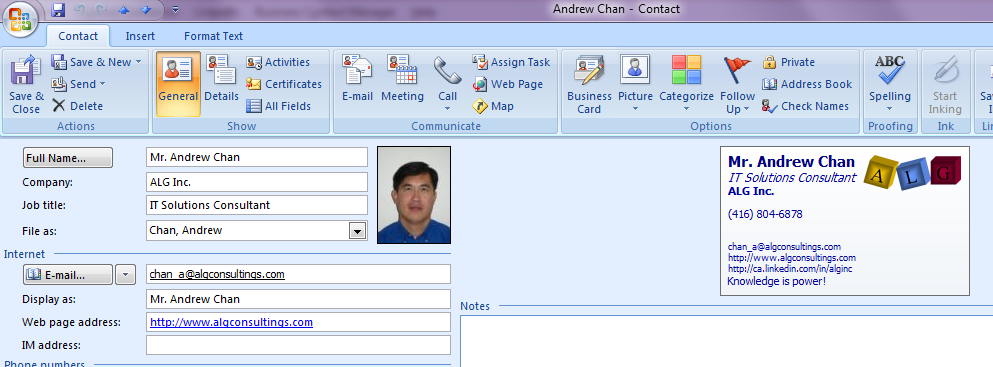 How do you create an electronic business card ebc using microsoft create your contact colourmoves