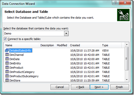 Create excel pivot table from sql server go beyond excel for Table design sql server