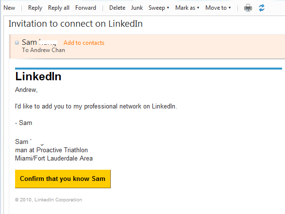 Be awarelinkedin invitation go beyond excel i have used the sweep function to automatically move all my linkedin emails from my inbox to another email folder so i dont expect to see any linkedin stopboris Images